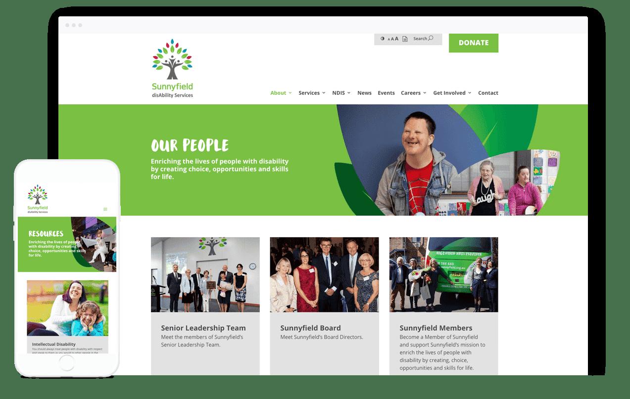 Disability Care Website Design