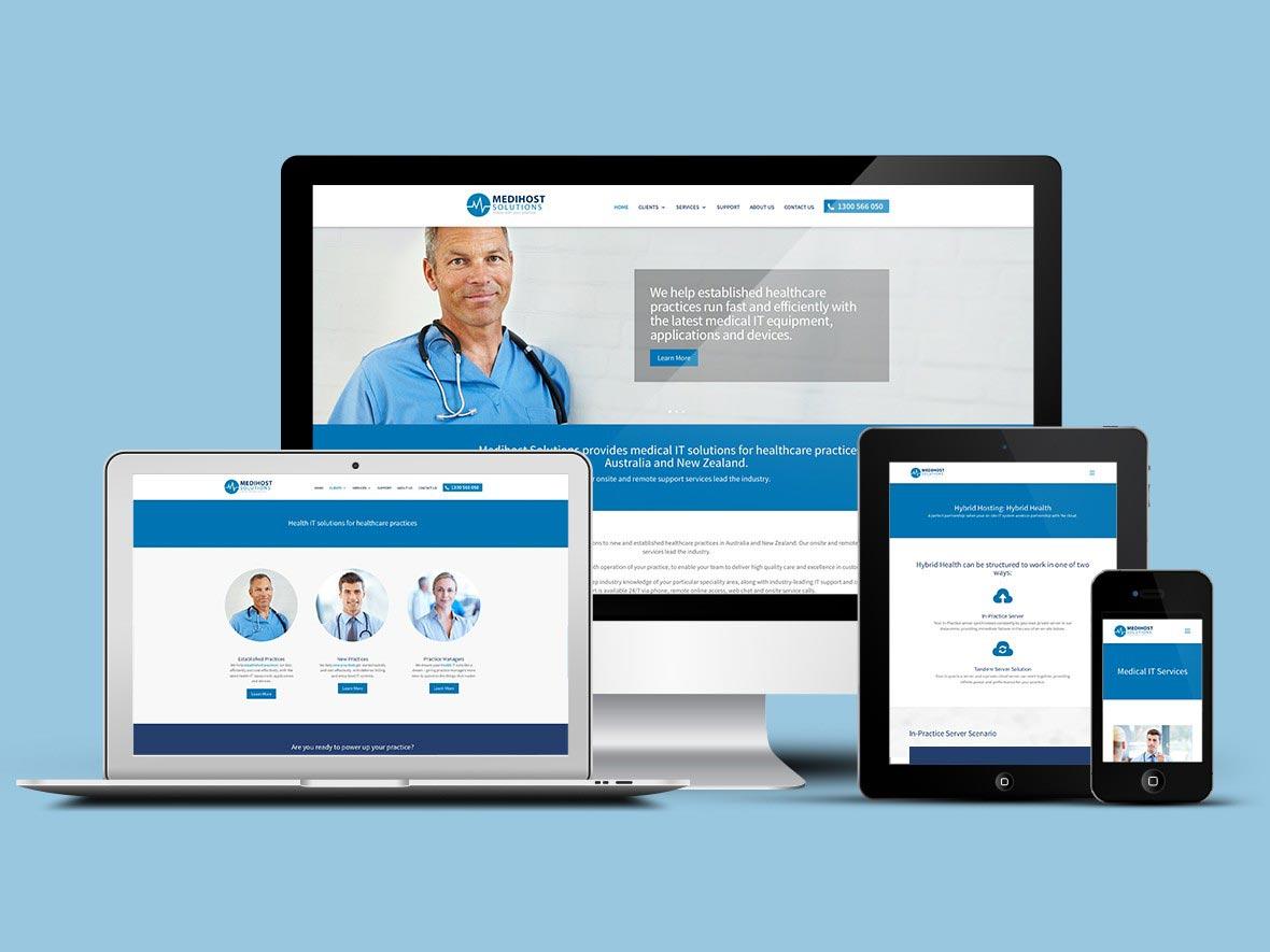 Medihost - IT Website Design