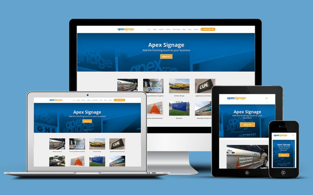 Apex Signage installs new website