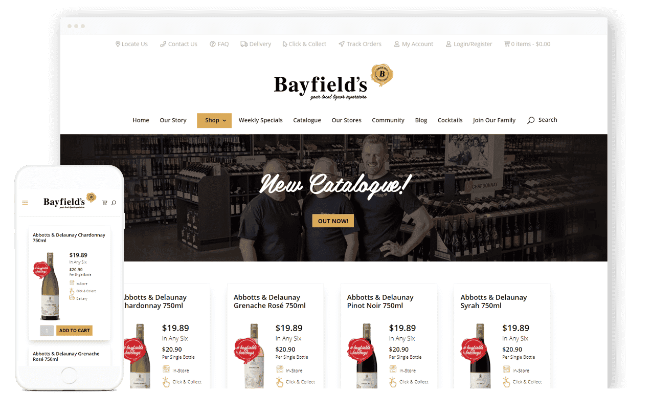 Liquor E-commerce Website Design