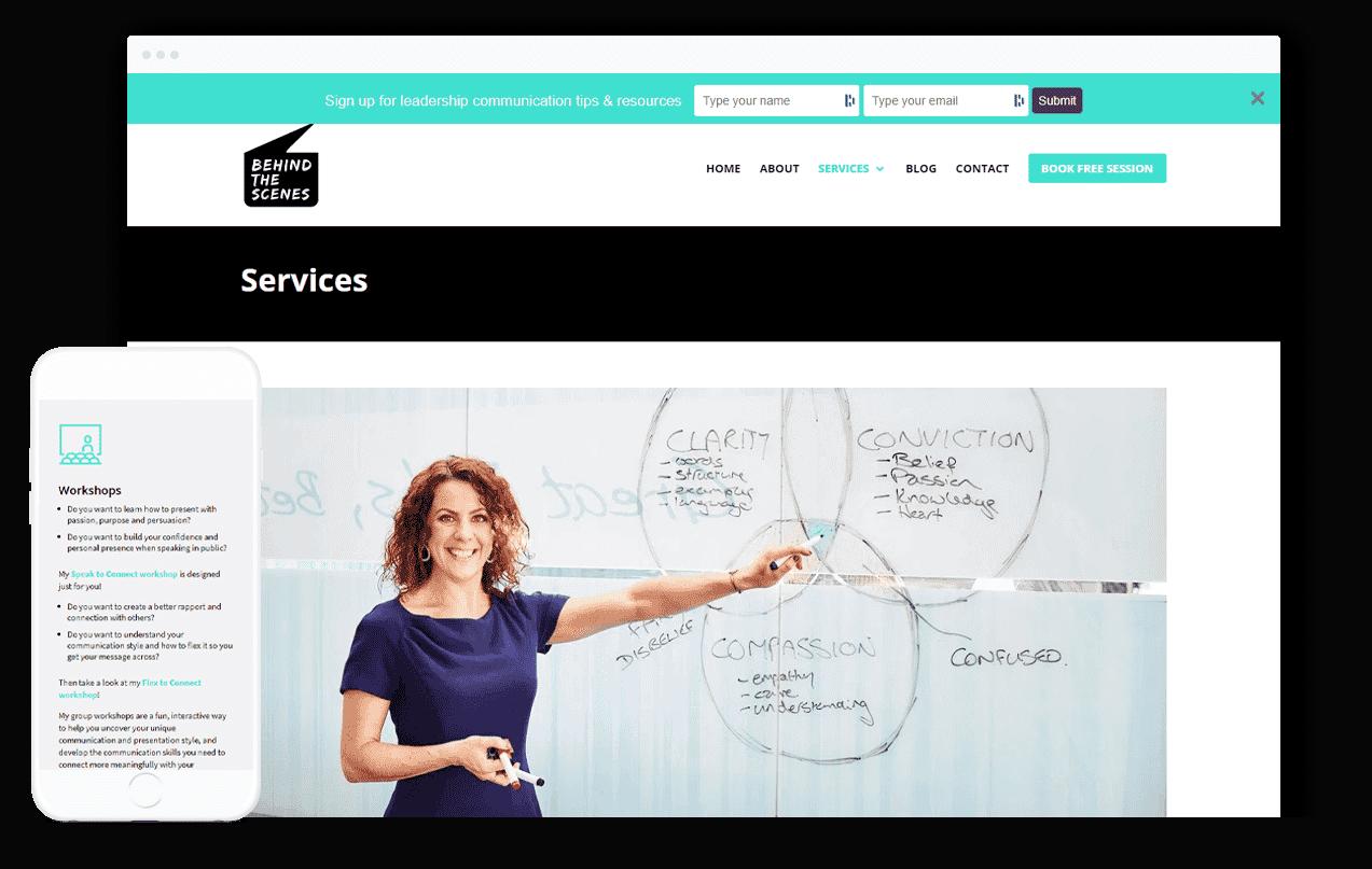 Communication training Website Design