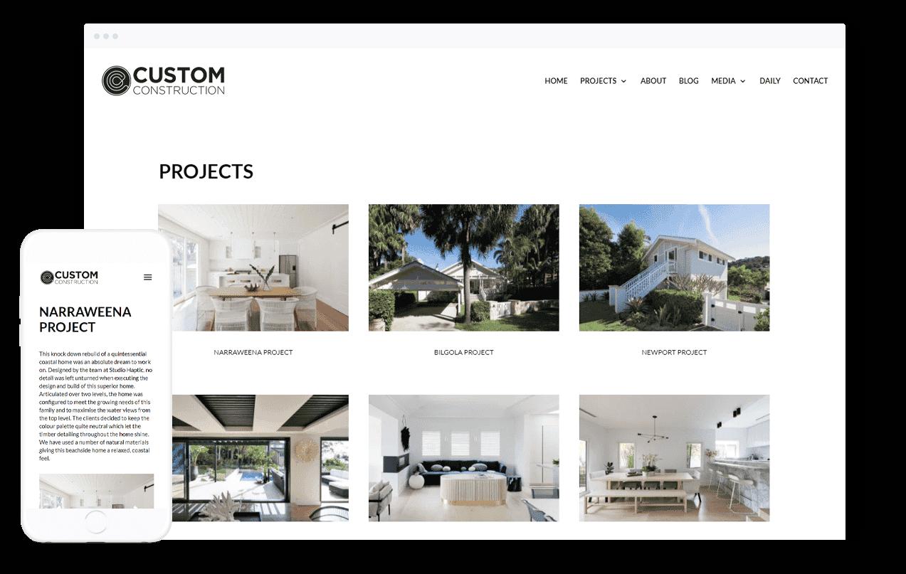 Building Company Website Design