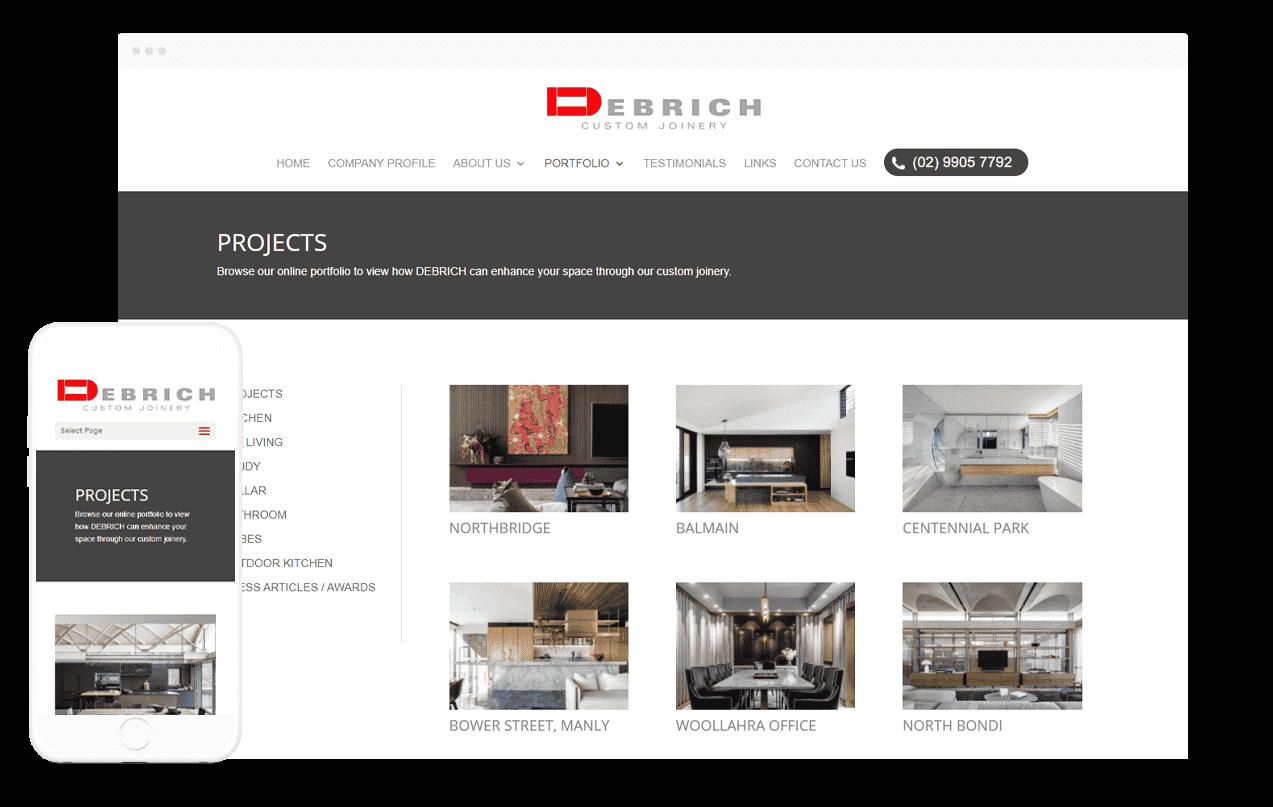 Joinery Website Design