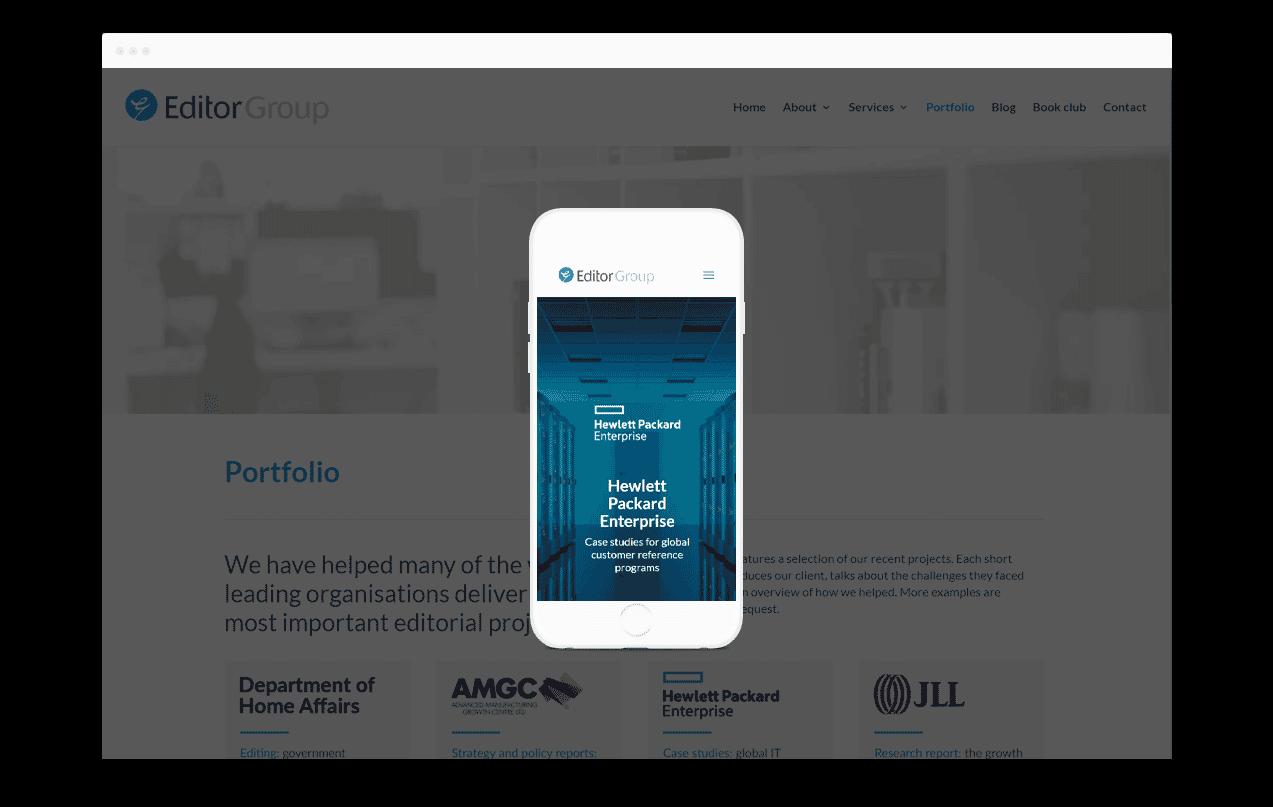 Professional Services Website Design