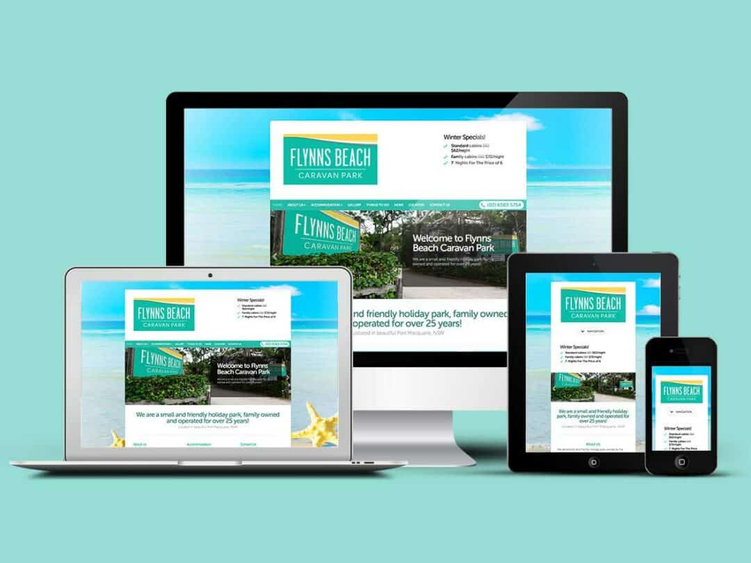 Flynns Beach Caravan Park sets up camp with a new website