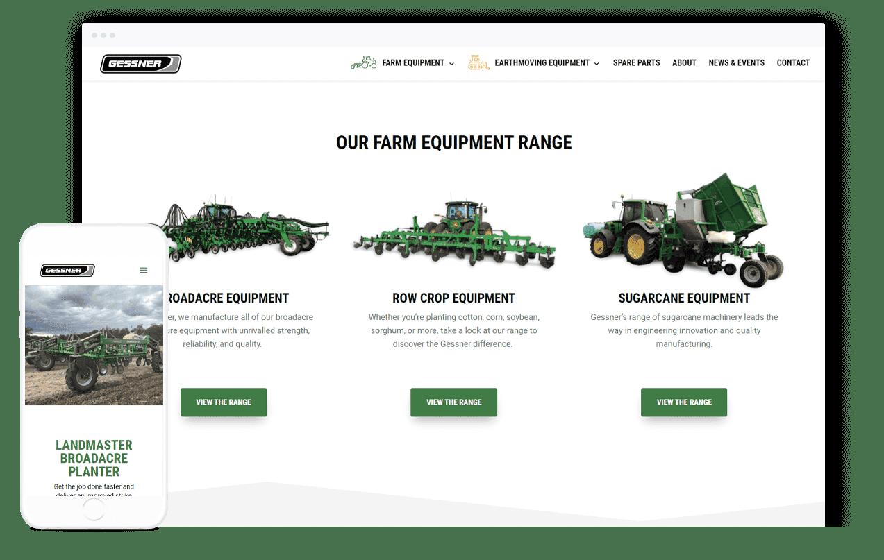 Machinery Website Design