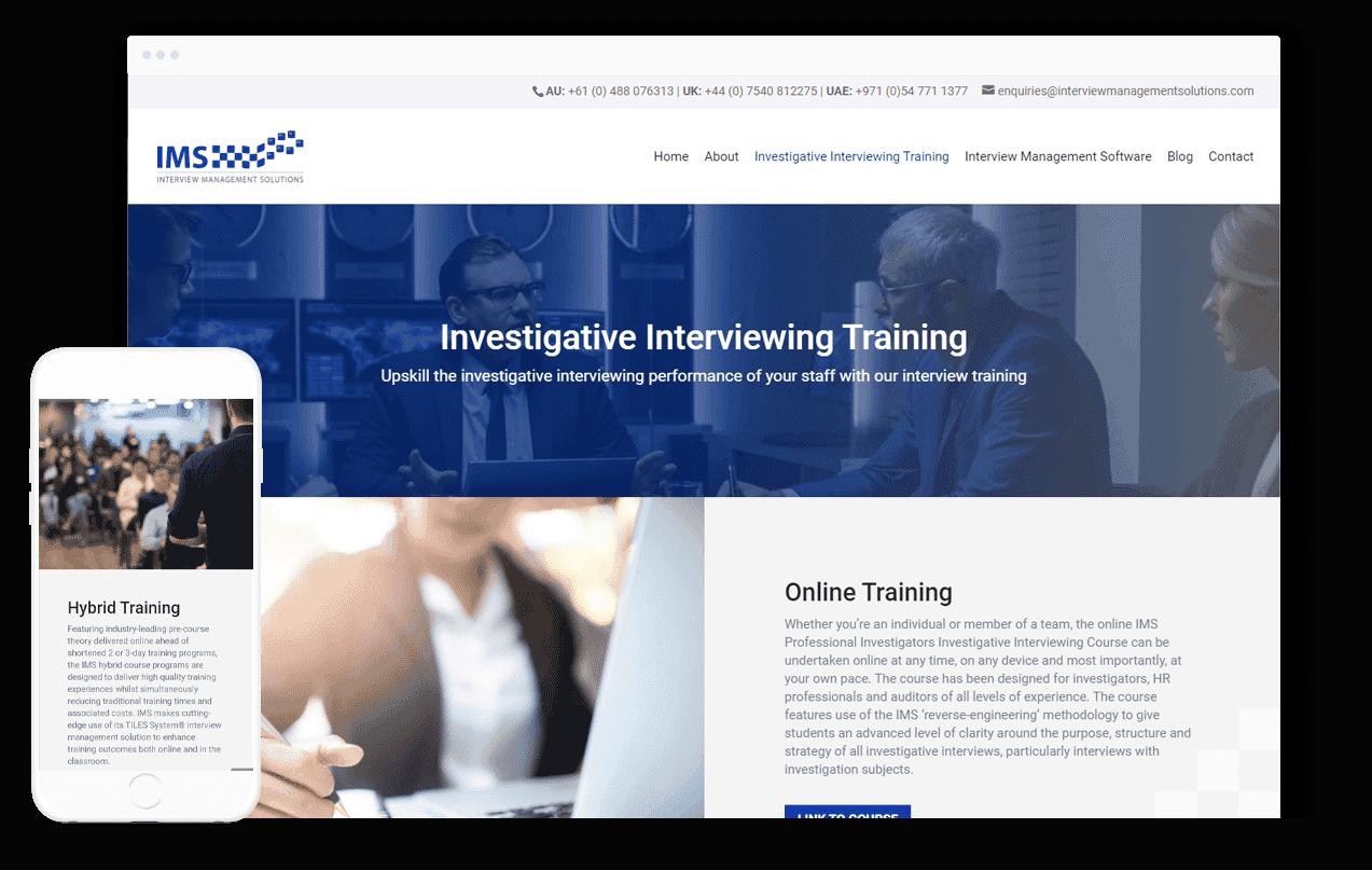 Training Services Website Design