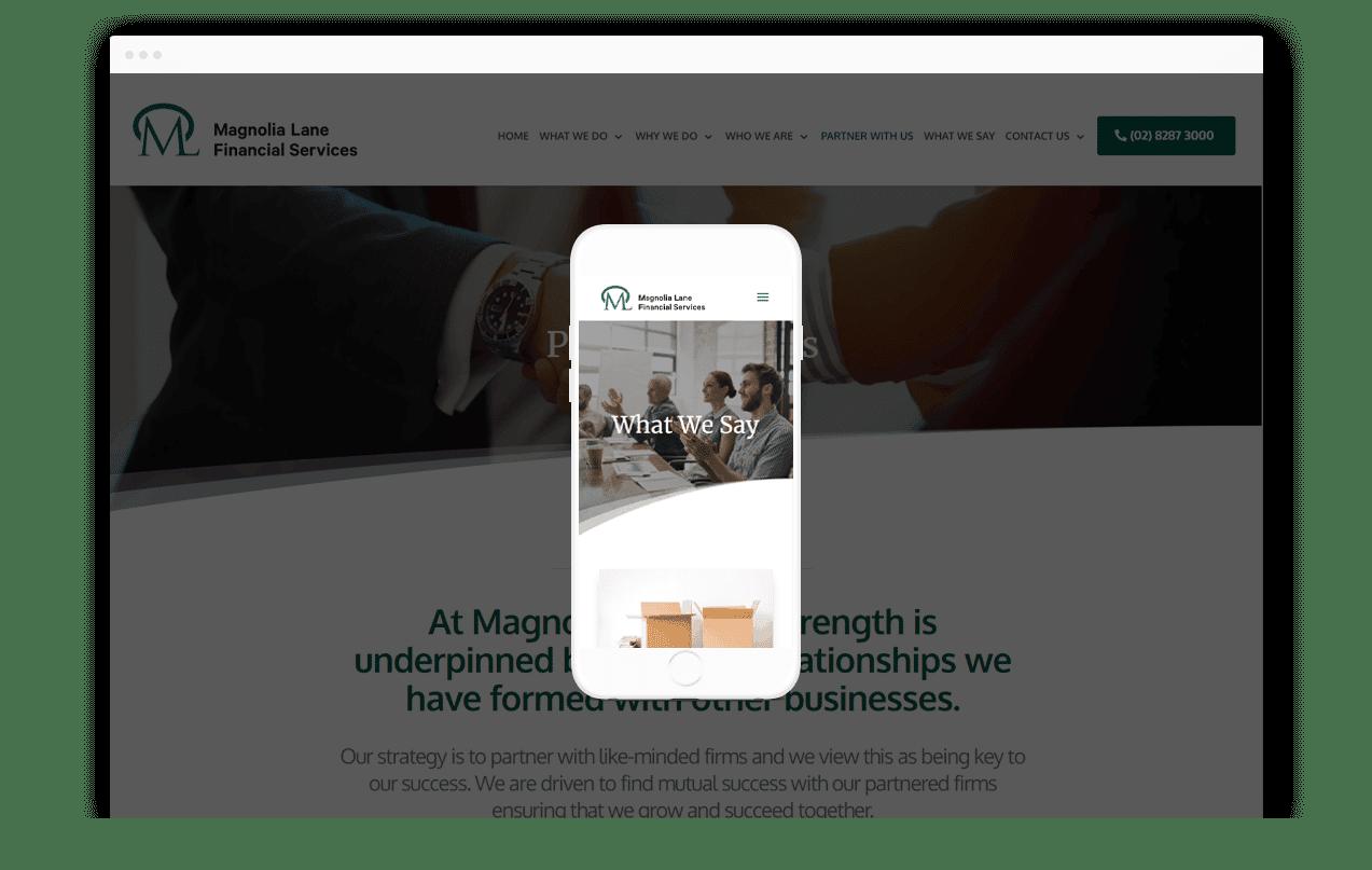Financial Business Website Design