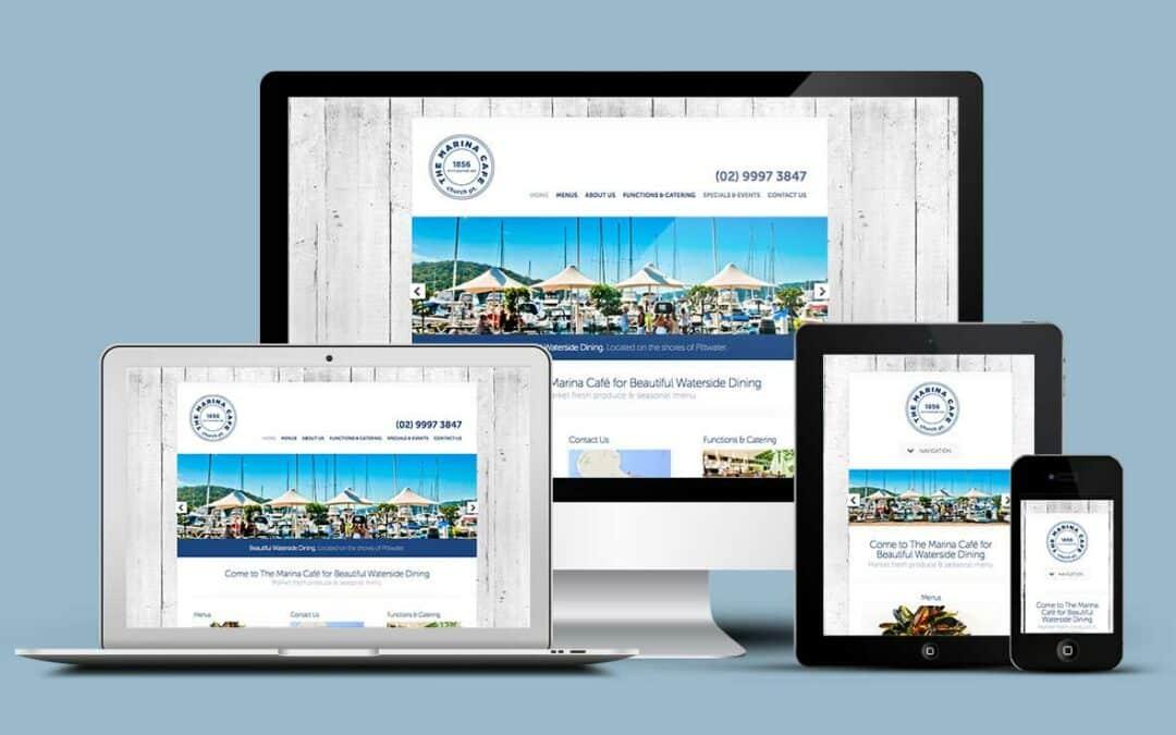 The Marina Cafe launches fresh new website