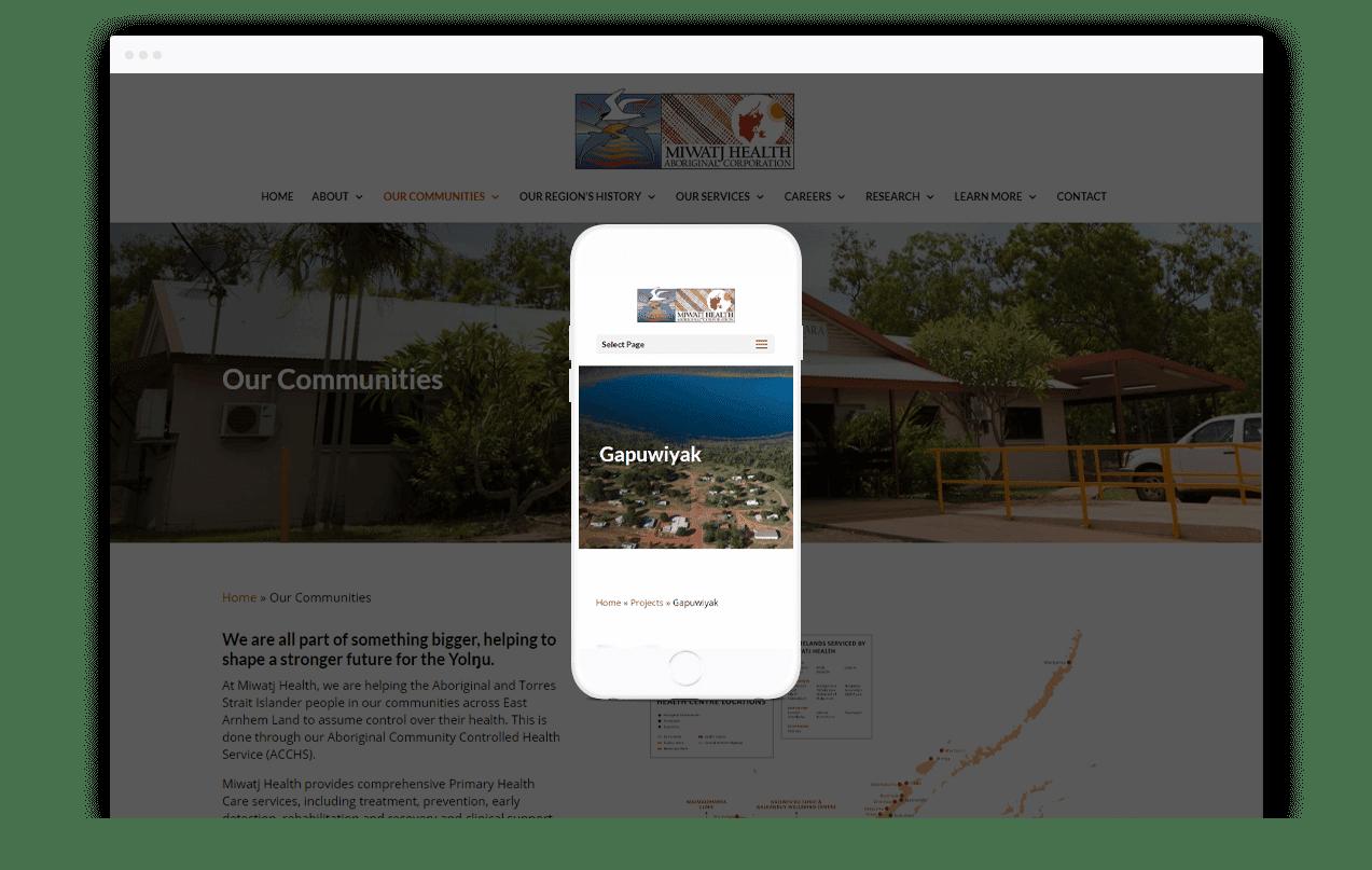 Health Services Website Design