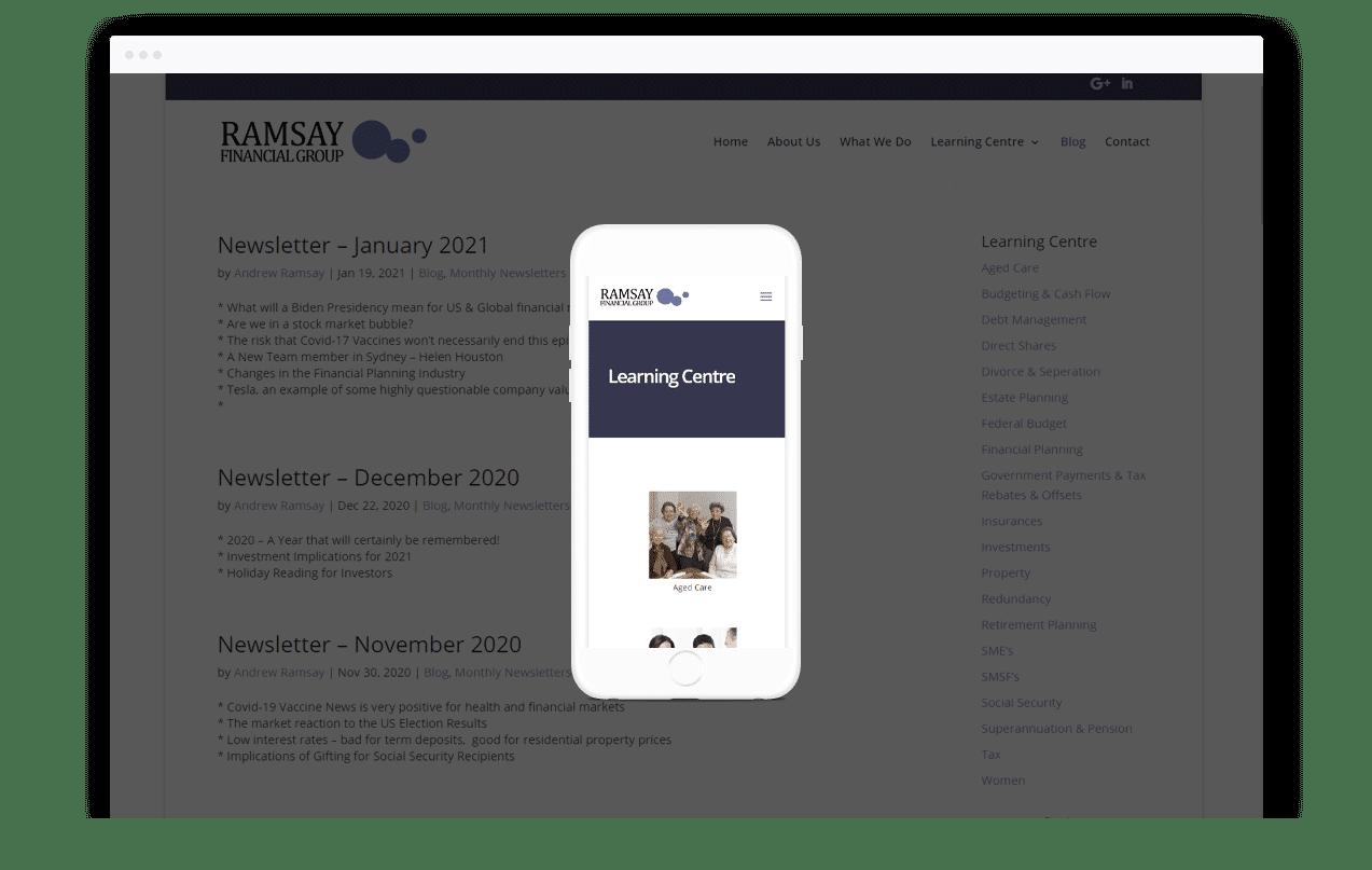Financial Planning Website Design
